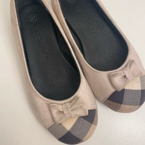 Toddler Burberry Bow Flats